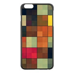Background With Color Layered Tiling Apple Iphone 6 Plus/6s Plus Black Enamel Case by Simbadda
