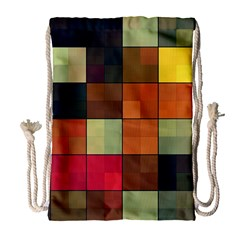 Background With Color Layered Tiling Drawstring Bag (large) by Simbadda