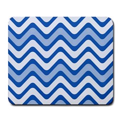 Background Of Blue Wavy Lines Large Mousepads by Simbadda