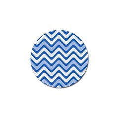 Background Of Blue Wavy Lines Golf Ball Marker (10 Pack) by Simbadda