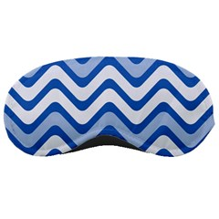Background Of Blue Wavy Lines Sleeping Masks by Simbadda