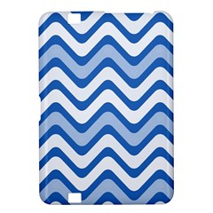 Background Of Blue Wavy Lines Kindle Fire Hd 8 9  by Simbadda
