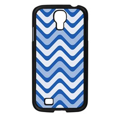 Background Of Blue Wavy Lines Samsung Galaxy S4 I9500/ I9505 Case (black) by Simbadda