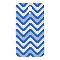 Background Of Blue Wavy Lines Samsung Galaxy Mega I9200 Hardshell Back Case by Simbadda