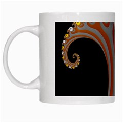 Classic Mandelbrot Dimpled Spheroids White Mugs by Simbadda