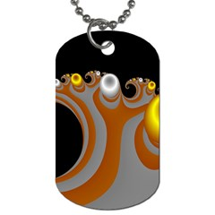 Classic Mandelbrot Dimpled Spheroids Dog Tag (one Side) by Simbadda