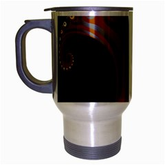 Classic Mandelbrot Dimpled Spheroids Travel Mug (silver Gray) by Simbadda
