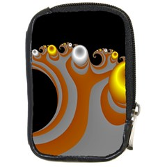 Classic Mandelbrot Dimpled Spheroids Compact Camera Cases by Simbadda