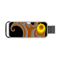 Classic Mandelbrot Dimpled Spheroids Portable Usb Flash (two Sides) by Simbadda