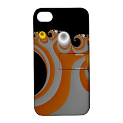 Classic Mandelbrot Dimpled Spheroids Apple Iphone 4/4s Hardshell Case With Stand by Simbadda
