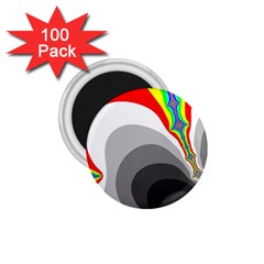Background Image With Color Shapes 1 75  Magnets (100 Pack)  by Simbadda