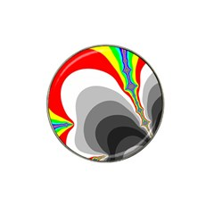 Background Image With Color Shapes Hat Clip Ball Marker (4 Pack) by Simbadda