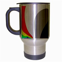 Background Image With Color Shapes Travel Mug (silver Gray) by Simbadda