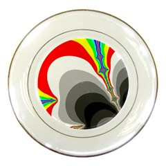 Background Image With Color Shapes Porcelain Plates by Simbadda
