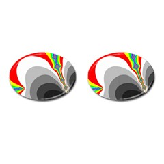 Background Image With Color Shapes Cufflinks (oval) by Simbadda