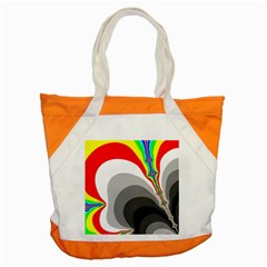 Background Image With Color Shapes Accent Tote Bag by Simbadda