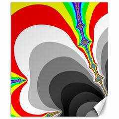 Background Image With Color Shapes Canvas 20  X 24   by Simbadda