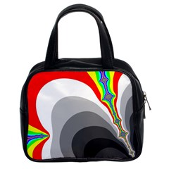 Background Image With Color Shapes Classic Handbags (2 Sides) by Simbadda
