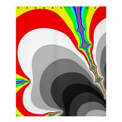 Background Image With Color Shapes Shower Curtain 60  X 72  (medium)  by Simbadda