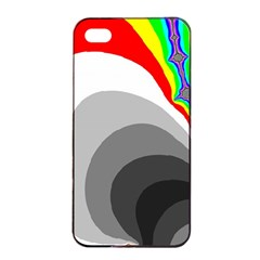 Background Image With Color Shapes Apple Iphone 4/4s Seamless Case (black) by Simbadda