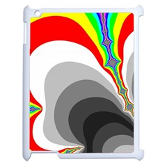 Background Image With Color Shapes Apple Ipad 2 Case (white) by Simbadda