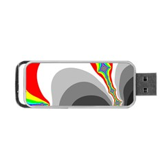 Background Image With Color Shapes Portable Usb Flash (two Sides) by Simbadda