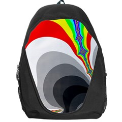 Background Image With Color Shapes Backpack Bag by Simbadda