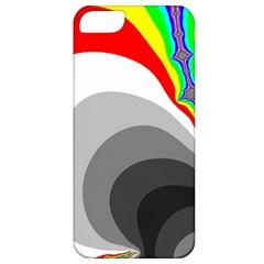 Background Image With Color Shapes Apple Iphone 5 Classic Hardshell Case by Simbadda