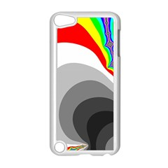 Background Image With Color Shapes Apple Ipod Touch 5 Case (white) by Simbadda