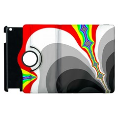 Background Image With Color Shapes Apple Ipad 2 Flip 360 Case by Simbadda