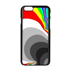 Background Image With Color Shapes Apple iPhone 6/6S Black Enamel Case