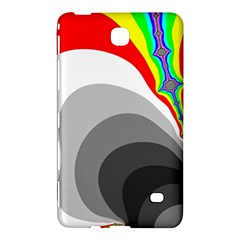 Background Image With Color Shapes Samsung Galaxy Tab 4 (8 ) Hardshell Case  by Simbadda