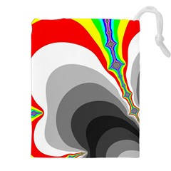 Background Image With Color Shapes Drawstring Pouches (xxl) by Simbadda