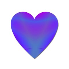 Violet Fractal Background Heart Magnet by Simbadda