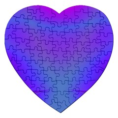 Violet Fractal Background Jigsaw Puzzle (heart) by Simbadda