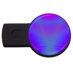 Violet Fractal Background Usb Flash Drive Round (4 Gb) by Simbadda
