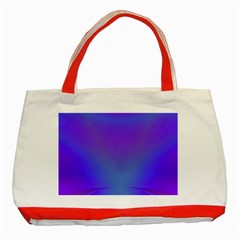 Violet Fractal Background Classic Tote Bag (red) by Simbadda