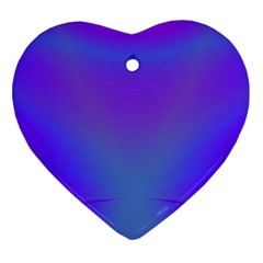 Violet Fractal Background Heart Ornament (two Sides) by Simbadda