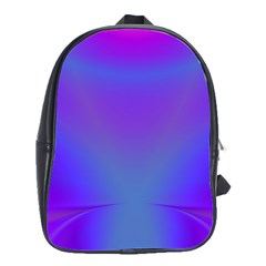 Violet Fractal Background School Bags(large)  by Simbadda