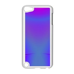 Violet Fractal Background Apple Ipod Touch 5 Case (white) by Simbadda