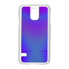 Violet Fractal Background Samsung Galaxy S5 Case (white) by Simbadda