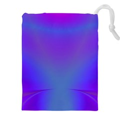 Violet Fractal Background Drawstring Pouches (xxl) by Simbadda