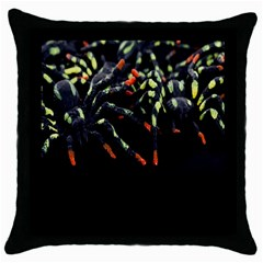 Colorful Spiders For Your Dark Halloween Projects Throw Pillow Case (black) by Simbadda