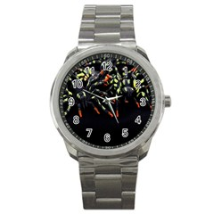 Colorful Spiders For Your Dark Halloween Projects Sport Metal Watch by Simbadda