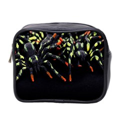 Colorful Spiders For Your Dark Halloween Projects Mini Toiletries Bag 2 Side by Simbadda
