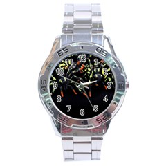 Colorful Spiders For Your Dark Halloween Projects Stainless Steel Analogue Watch by Simbadda