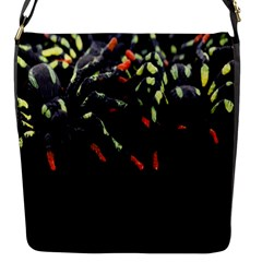 Colorful Spiders For Your Dark Halloween Projects Flap Messenger Bag (s) by Simbadda