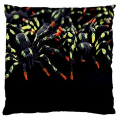 Colorful Spiders For Your Dark Halloween Projects Standard Flano Cushion Case (one Side) by Simbadda