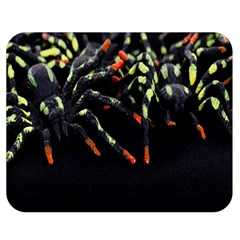 Colorful Spiders For Your Dark Halloween Projects Double Sided Flano Blanket (medium)  by Simbadda