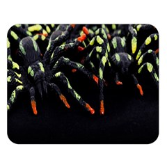 Colorful Spiders For Your Dark Halloween Projects Double Sided Flano Blanket (large)  by Simbadda